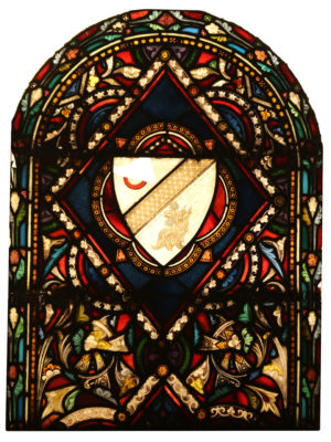 An Antique Stained Glass Window Panel
