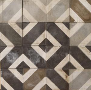 Reclaimed Patterned Encaustic Floor Tiles 7 m2 (75 ft2)