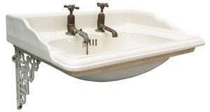 An Antique Wall Mounted Sink or Basin