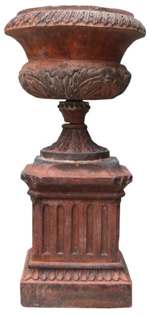 Reclaimed Victorian Style Terracotta Garden Urn
