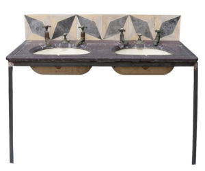 A Reclaimed Double Sink or Basin with Stand