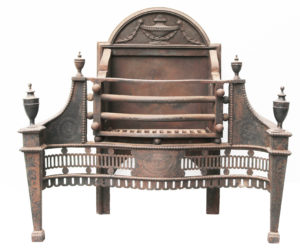 An Antique George III Style Fire Grate
