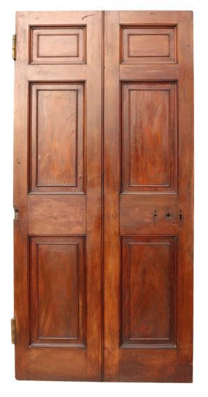 A Reclaimed Georgian Mahogany Six Panel Door