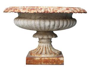 An Antique Georgian Style Cast Iron Garden Urn