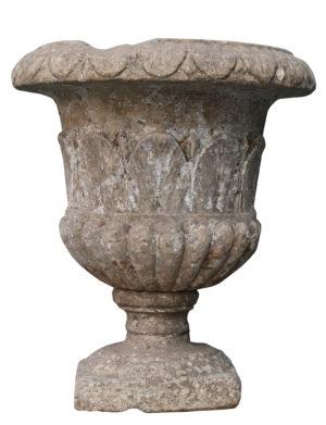 An Antique Limestone Garden Urn