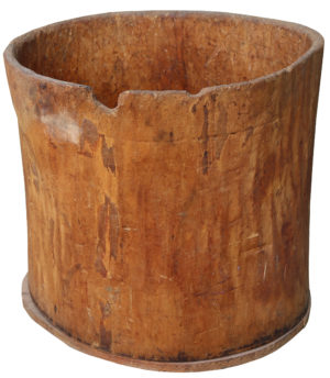 A Large Antique Dug-out Tree Trunk Log Bin