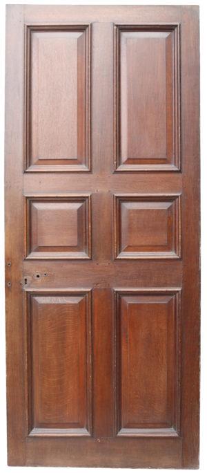 An Antique English George III Oak Door