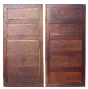 Two Reclaimed Antique Oak Panels or Doors