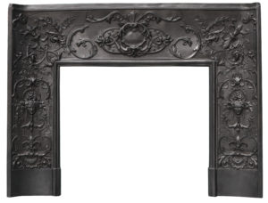 An Antique French Cast Iron Fireplace Insert