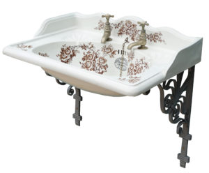A Reclaimed English Transfer Printed Basin or Sink
