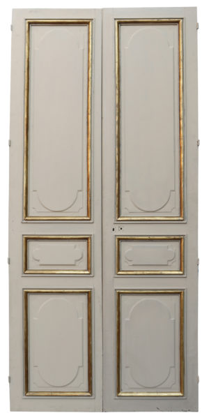 A Set of Tall Antique Panelled Double Doors