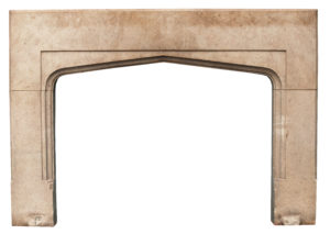 A Reclaimed Fossilised Limestone Fireplace