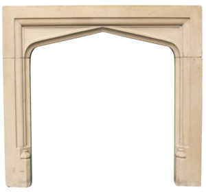 A Reclaimed 19th Century English Limestone Fire Surround