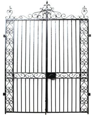 A Set of Reclaimed English Wrought Iron Garden Gates
