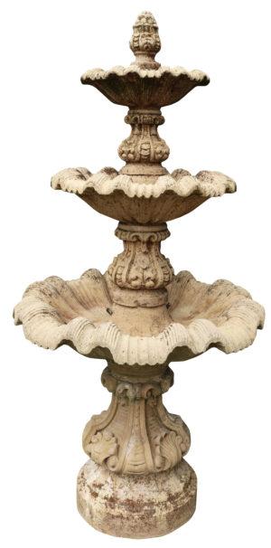 A Reclaimed composition Stone Garden Fountain