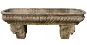 A Large Antique 17th Century Italian Marble Cistern Trough