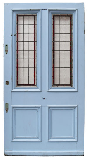 A Large Reclaimed Victorian Stained Glass Front Door