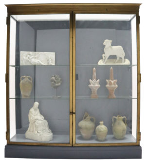 A Glazed Bronze Museum Display Cabinet From The V & A (Five Available)