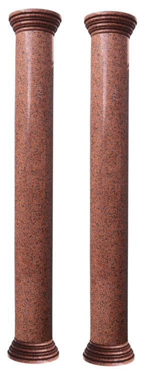 Two Reclaimed Granite Columns 269 cm (8'8″)