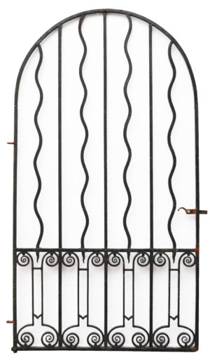A Reclaimed Arched Wrought Iron Pedestrian Gate