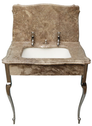 An Antique Marble Wash Basin with Stand