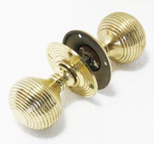 Reclaimed Brass Beehive Door Knobs