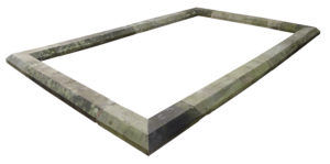 A Large Reclaimed Yorkstone Pool or Pond Surround