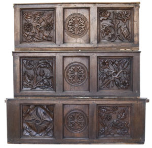 Set of Three 18th / 19th Century Carved Oak Wall Panels