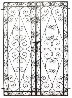 A Set of Reclaimed Wrought Iron Garden Gates