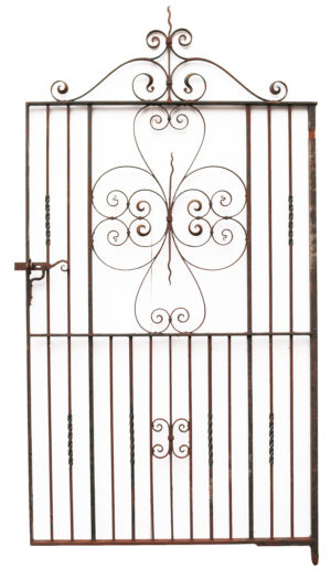 A Large Reclaimed Wrought Iron Garden Gate