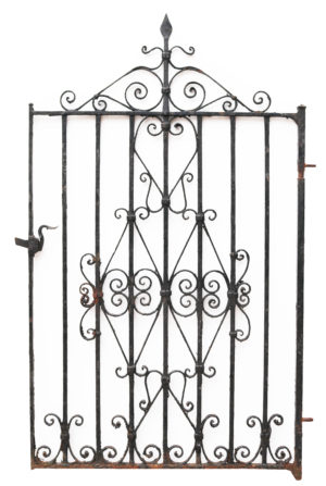 A Reclaimed Victorian Style Wrought Iron Garden Gate