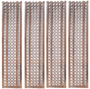 Four Reclaimed Cast Iron Floor Grills or Grids
