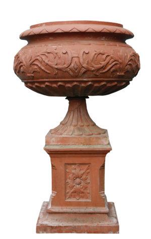 A Large Antique Terracotta Centrepiece Urn