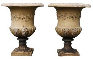 Two Antique J M Blashfield Terracotta Garden Urns