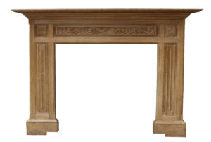 An Antique Carved Oak Fireplace Surround