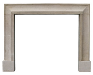 A 1920s Bolection Fireplace in Fossilised Limestone