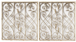 Two Reclaimed Wrought Iron Grills