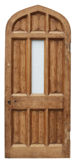 An Antique Arched Oak Exterior Door