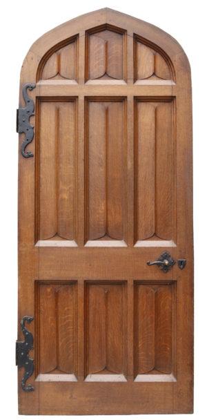 A Reclaimed Arched Oak Exterior Door