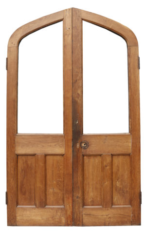 A Set of Reclaimed Arched Oak Doors