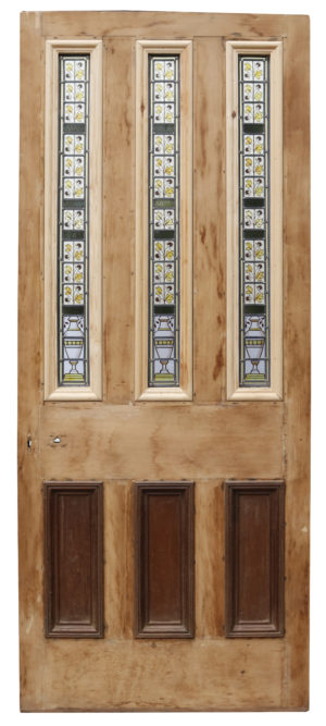 An Antique Stained Glass Front Door