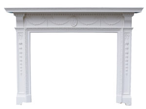 A Painted Georgian Style Reclaimed Fire Surround