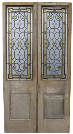 A Set of Reclaimed Stained Glass Doors