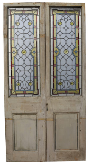 A Pair of Antique Stained Glass Doors
