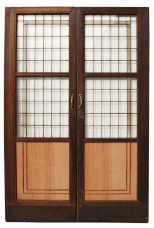 Set of Antique Copper Light Doors