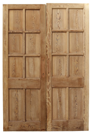 A Set of Stripped Pine Room Dividing Doors