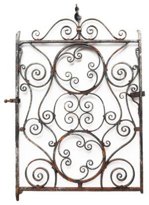 An Antique Wrought Iron Garden Gate