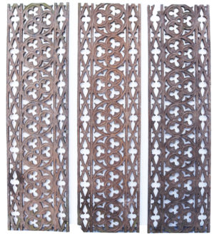 A Set of Fifteen Gothic Style Cast Iron Floor Grills 16m (52ft)
