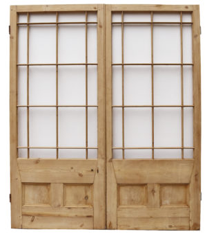 A Set of Georgian Style Margin Glazed Doors