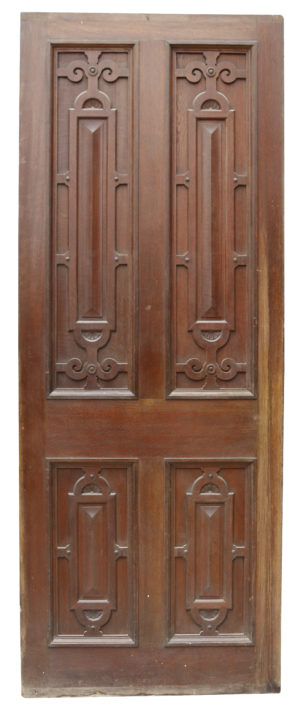 A Reclaimed Jacobean Style Carved Oak Interior Panel